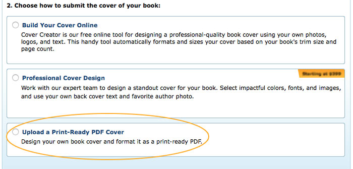 How-to: Upload the Print-Ready PDF to CreateSpace - Paper